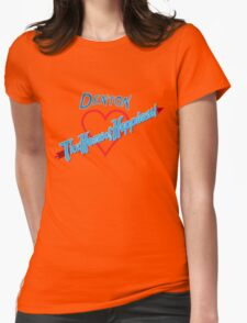 Denton - Home of Happiness in Neon Womens Fitted T-Shirt
