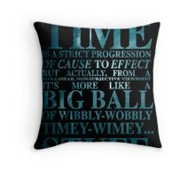 Dr Who Quote - David Tennant Throw Pillow