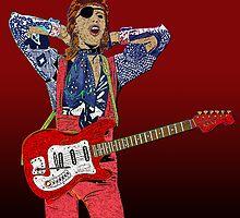Bowie Guitar 3 by Michael Donnellan