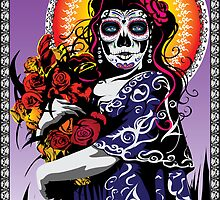 Dia de los Muertos (Day of the Dead) II by Tobin  Pilotte