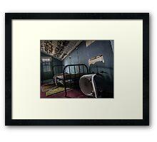 ...broken home... Framed Print