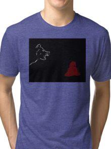 Little Red Riding Hood & the Wolf Tri-blend T-Shirt