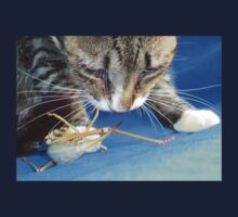 Close Up of A Tabby Cat and Katydid Baby Tee