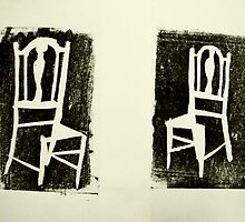 pair of old school chairs by donnamalone