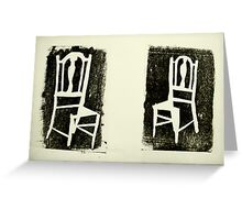 pair of old school chairs Greeting Card