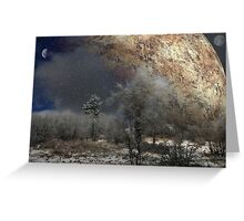 """""""Where time and space collide"""" Greeting Card"""