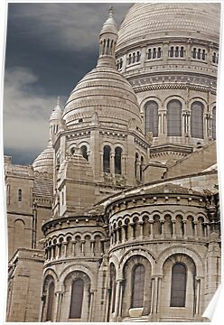 Sacre Coeur Montmartre Paris France by Buckwhite