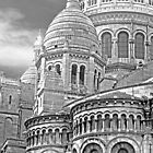 Sacre Coeur Montmartre Paris France - B&W by Buckwhite