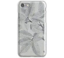 pencil sketch - study of leaves 1880 iPhone Case/Skin