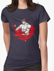 Muay Thai : Born to Fight Womens Fitted T-Shirt