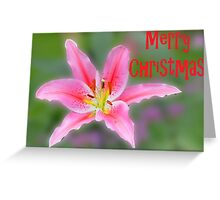 Merry Christmas lily card Greeting Card