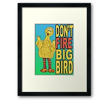 Don't Fire Big Bird Framed Print