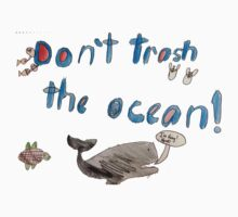 Nathan - Don't Trash the Ocean T by class3F
