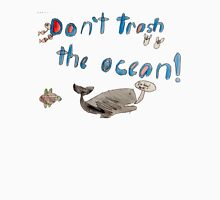 Nathan - Don't Trash the Ocean T Men's Baseball ¾ T-Shirt