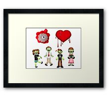 Eye Heart Zombies Framed Print