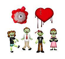 Eye Heart Zombies Photographic Print