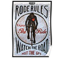 Rode Rules 13 Watch The Road Poster