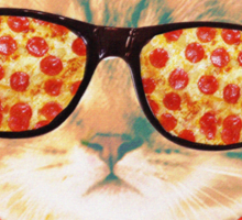 Kitty Pizza Sticker
