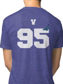 BTS- V 95 Line Butterfly Jersey Tri-blend T-Shirt