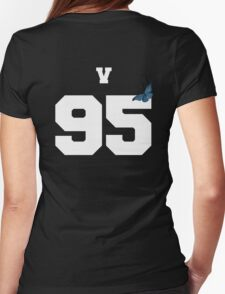 BTS- V 95 Line Butterfly Jersey Womens Fitted T-Shirt