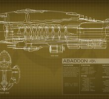 EVE Online - Abaddon Schematic by Titch-IX
