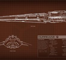 EVE Online - Hurricane Schematic by Titch-IX