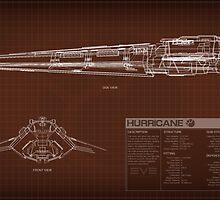EVE Online - Hurricane Schematic by Titch-IX