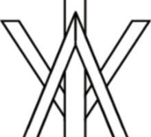 Iceage logo shirt Sticker