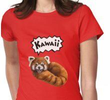 Cute Kawaii Red Panda Womens Fitted T-Shirt