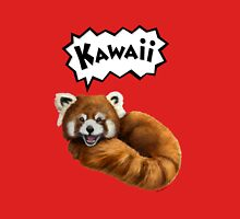 Cute Kawaii Red Panda Womens Fitted T-Shirt