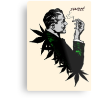 Politics and Weed - Sweet - Politician Smoking Weed Pot Marijuana Hemp T Shirts Stickers and Art Metal Print