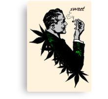 Politics and Weed - Sweet - Politician Smoking Weed Pot Marijuana Hemp T Shirts Stickers and Art Canvas Print