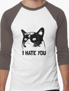 Grumpy Cat hates you! Men's Baseball ¾ T-Shirt