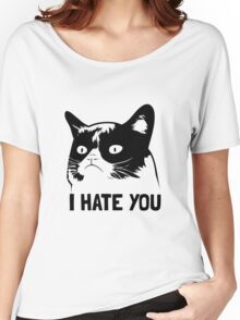 Grumpy Cat hates you! Women's Relaxed Fit T-Shirt