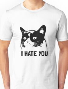 Grumpy Cat hates you! Unisex T-Shirt