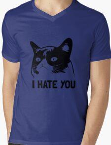 Grumpy Cat hates you! Mens V-Neck T-Shirt