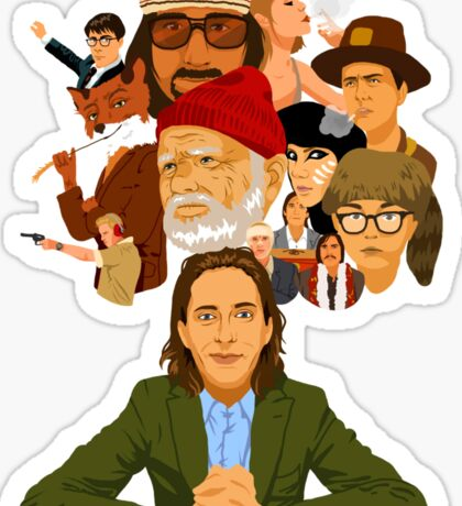 The World of Wes Anderson Sticker