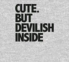 Cute. But Devilish Inside Womens Fitted T-Shirt