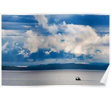 Blue Dawn along the Highland Coast Poster