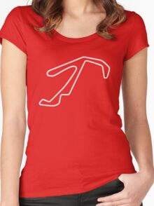 Misano World Circuit Marco Simoncelli [outline] Women's Fitted Scoop T-Shirt