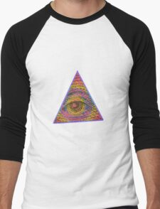 Eye of Providence Psychedelic Men's Baseball ¾ T-Shirt