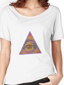 Eye of Providence Psychedelic Women's Relaxed Fit T-Shirt
