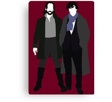 Ichabod Crane and Sherlock Holmes (BBC Version) Canvas Print