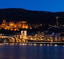 Heidelberg at Night by Johannes Valkama