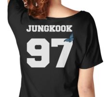 BTS- JUNGKOOK 97 Line Butterfly Jersey Women's Relaxed Fit T-Shirt