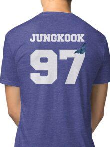 BTS- JUNGKOOK 97 Line Butterfly Jersey Tri-blend T-Shirt
