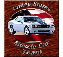 Dodge Challenger SRT8 Muscle Car Team Photographic Print