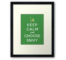 Keep Calm And Choose Snivy Framed Print