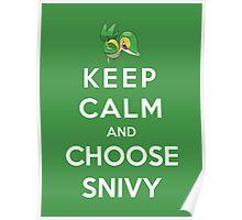 Keep Calm And Choose Snivy Poster