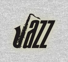 Jazz Black Saxophone  decoration Clothing & Stickers by goodmusic